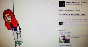 Megan Is Hanging By A Thread FB Post for Mish Mash Post 012914